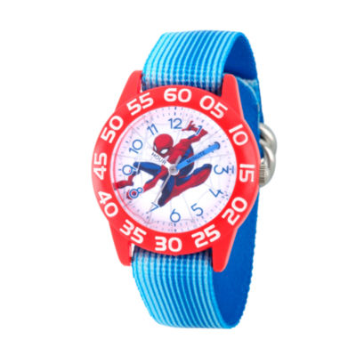 Spiderman Boys Blue Strap Watch-Wma000181