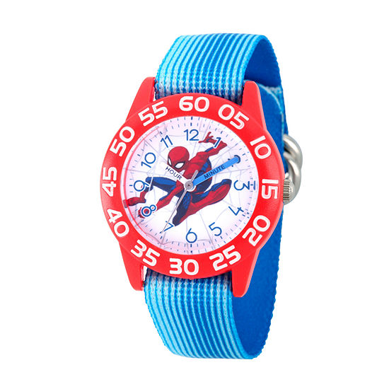 Spiderman Boys Blue Strap Watch Wma000181