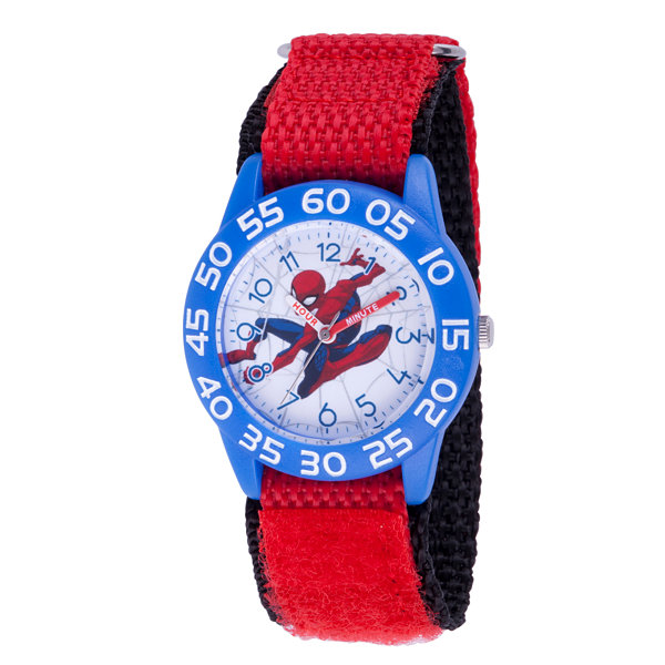 Spiderman Boys Red Strap Watch-Wma000182