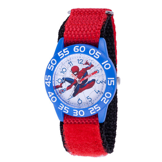 Marvel Spiderman Boys Red Strap Watch-Wma000182