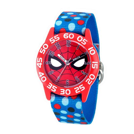 Marvel Spiderman Boys Blue Strap Watch-Wma000185