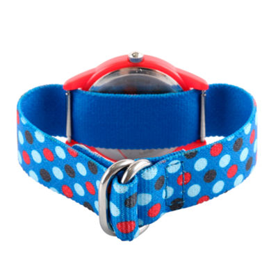 Spiderman Boys Blue Strap Watch-Wma000185