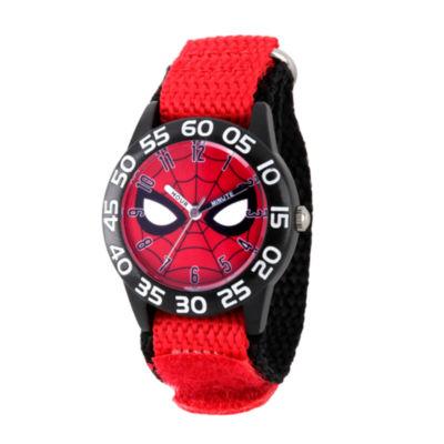 Spiderman Boys Red Strap Watch-Wma000186