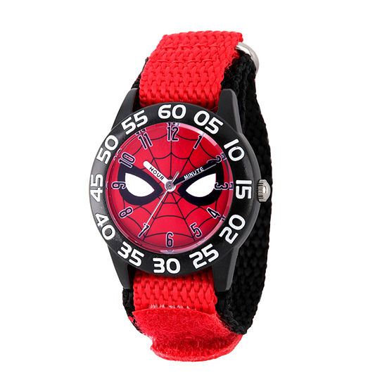Marvel Spiderman Boys Red Strap Watch-Wma000186