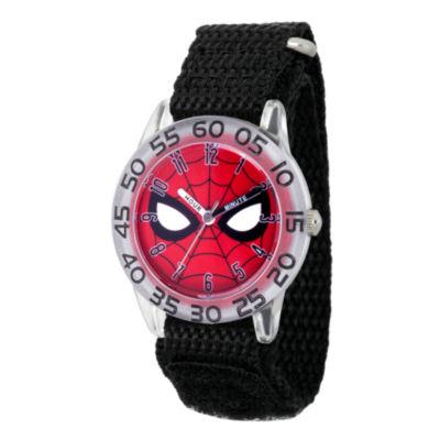 Spiderman Boys Black Strap Watch-Wma000187