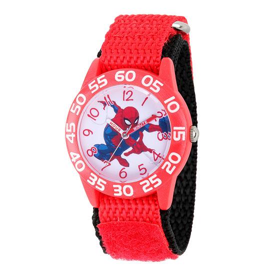 Spiderman Boys Red Strap Watch-Wma000188