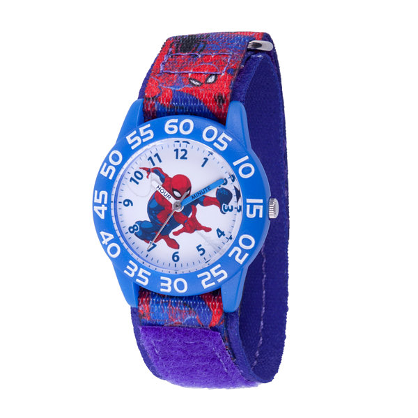 Spiderman Boys Blue Strap Watch-Wma000189
