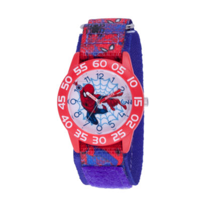 Spiderman Boys Blue Strap Watch-Wma000190