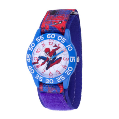 Spiderman Boys Blue Strap Watch-Wma000191