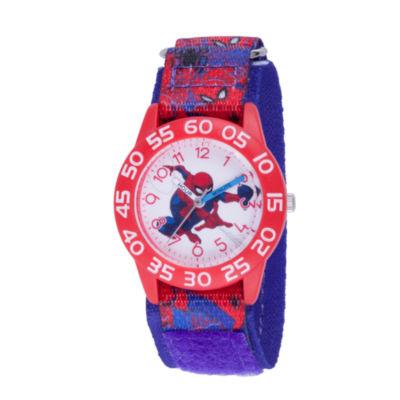 Spiderman Boys Blue Strap Watch-Wma000193