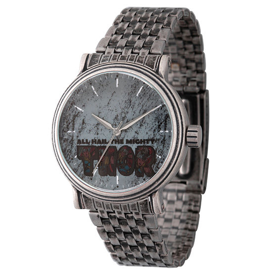 Marvel Mens Silver Tone Strap Watch Wma000197