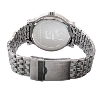 Marvel Mens Silver Tone Strap Watch-Wma000197