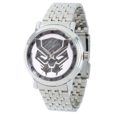 Marvel Mens Silver Tone Strap Watch-Wma000199
