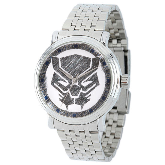 Marvel Mens Silver Tone Stainless Steel Strap Watch-Wma000199