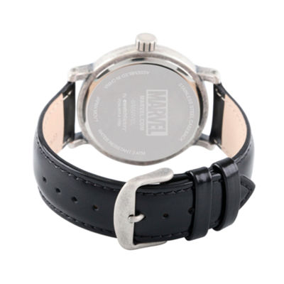 Marvel Mens Black Strap Watch-Wma000200