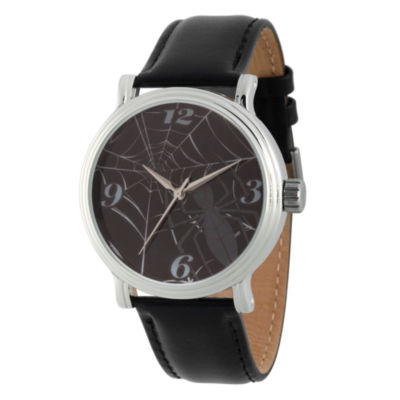 Spiderman Mens Black Strap Watch-Wma000201