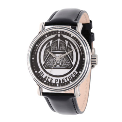 Avengers Mens Black Strap Watch-Wma000202