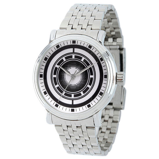 Marvel Avengers Mens Silver Tone Stainless Steel Strap Watch-Wma000203