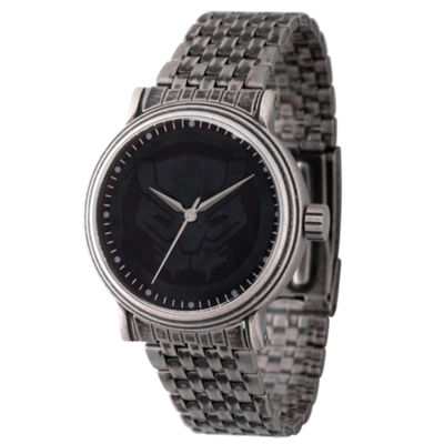 Marvel Mens Silver Tone Strap Watch-Wma000204