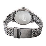 Marvel Marvel Mens Silver Tone Stainless Steel Strap Watch-Wma000204