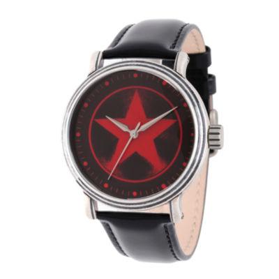 Avengers Mens Black Strap Watch-Wma000207