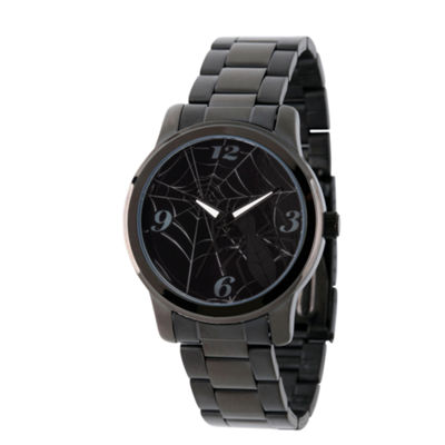 Spiderman Mens Black Strap Watch-Wma000210