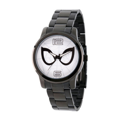 Spiderman Mens Black Strap Watch-Wma000211