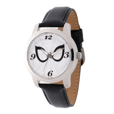 Spiderman Mens Black Strap Watch-Wma000212