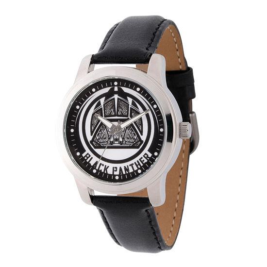 Avengers Mens Black Strap Watch Wma000213