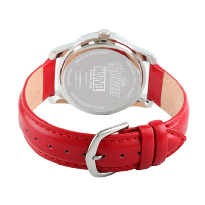 Avengers Mens Red Strap Watch-Wma000215