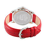 Marvel Avengers Mens Red Leather Strap Watch-Wma000215