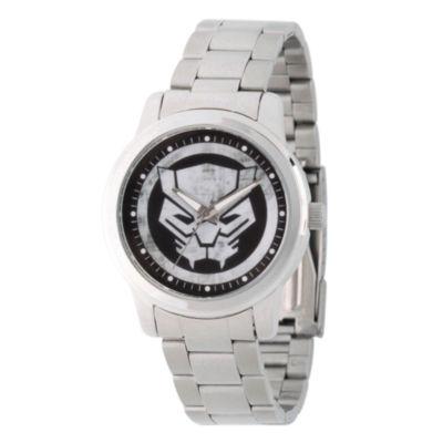 Marvel Mens Silver Tone Strap Watch-Wma000216
