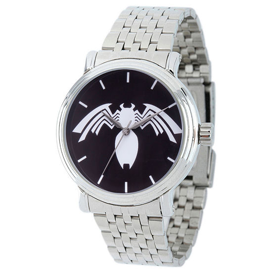 Spiderman Mens Silver Tone Strap Watch Wma000221