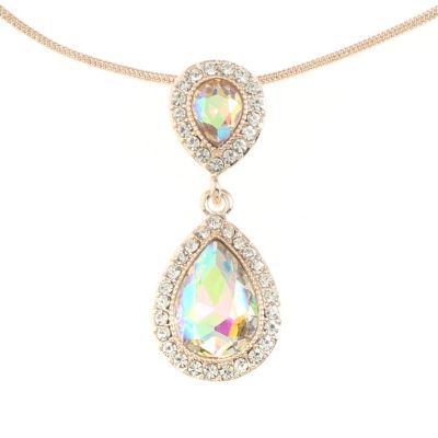 Monet Jewelry Womens White Pendant Necklace
