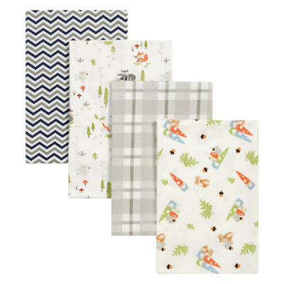 Trend Lab Woodsy Gnomes Flannel 4-pc. Receiving Blanket
