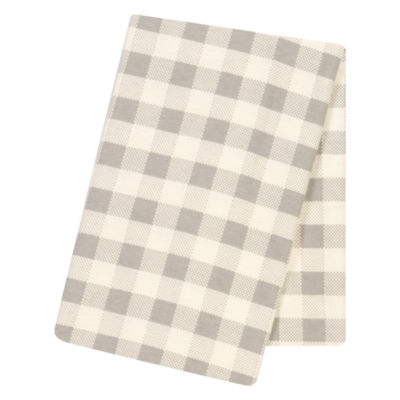 Trend Lab Gray Buffalo Check 1 Pair Swaddle Blanket