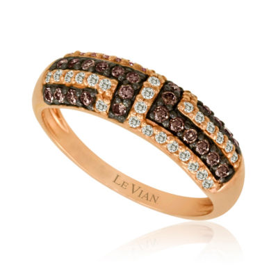 Grand Sample Sale™ by Le Vian® 1/2 CT. T.W. Chocolate Diamonds® & Vanilla Diamonds® in 14K Strawberry Gold® Chocolatier® Ring