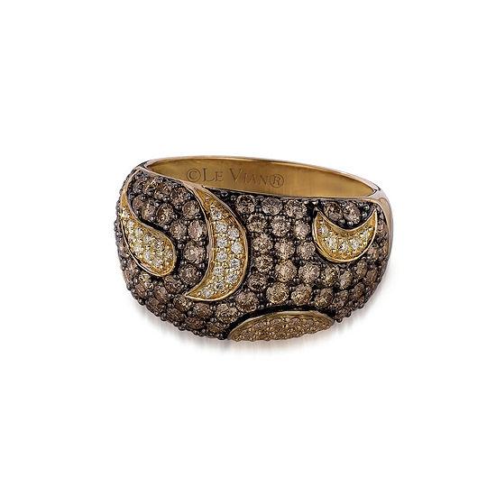 Le Vian Grand Sample Sale™ 1 3/4 CT. T.W. Vanilla Diamonds® & Chocolate Diamonds® in 14K Honey Gold™ Chocolatier® Ring