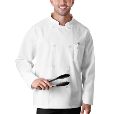 5 Star Chef Apparel Unisex Long Sleeve Chef Coat