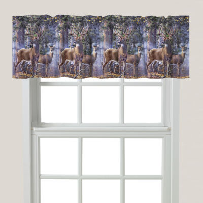 Laural Home Deer Time Rod-Pocket Tailored Valance