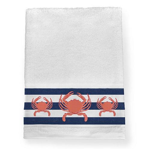 Laural Home Crab Stripe Bath Towel