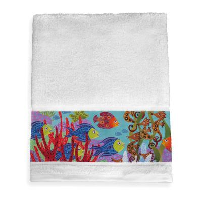 Laural Home Fish In The Hood Beach + Nautical Bath Towel