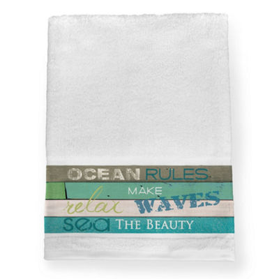 Laural Home Ocean Rules Bath Towel