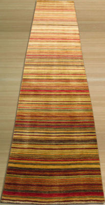Eastern Rugs Handmade Transitional Stripe Lori Toni Rug