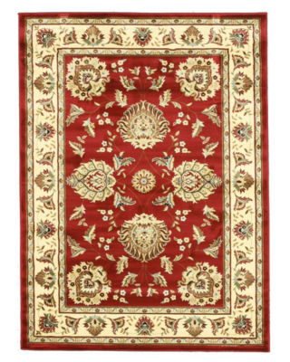 Eastern Rugs Machine-Made Traditional Oriental Allover Kashan Rug
