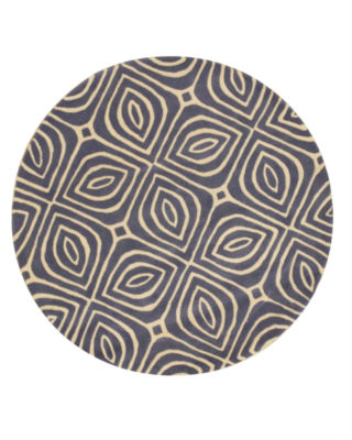 Eastern Rugs Hand-tufted Contemporary Geometric Marla Round Rug