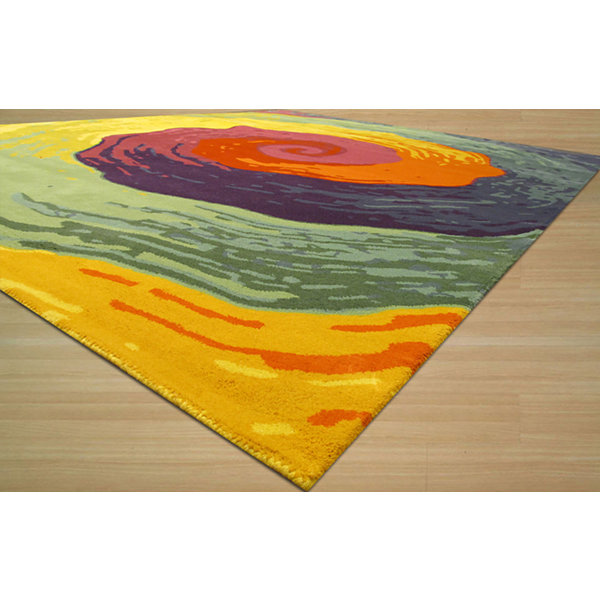 Eastern Rugs Hand-tufted Contemporary Abstract Cowabunga Rug