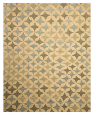 Eastern Rugs Hand-tufted Transitional Abstract Star Rug