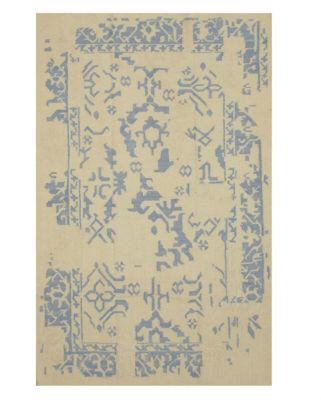 Eastern Rugs Handmade Contemporary Geometric Flatweave Reversible Erased Rug