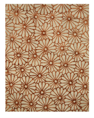 Eastern Rugs Hand-tufted Transitional Trellis Sunflower Rug